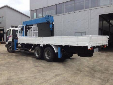 Бортовой грузовик Daewoo с КМУ 7т