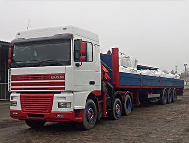 Кран-манипулятор длинномер Daf 25 тонн