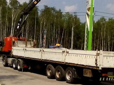 Длинномер Scania с краном манипулятором