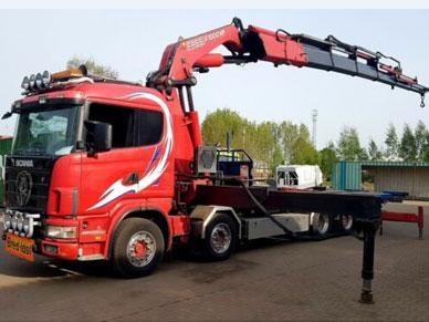 Низкорамный манипулятор Scania